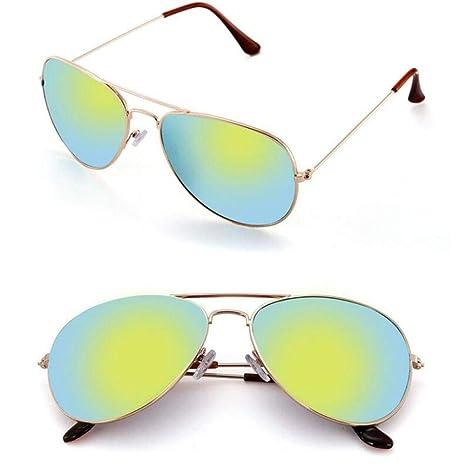 Gafas Gafas De Sol Clásicas De Moda Mujeres Hombres Espejo ...
