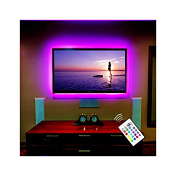 Bason Lighting Led Strip Lights For 60 75 Flat Hdtv Amazoncouk
