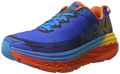 Hoka One Bondi 5, Zapatillas de Running para Hombre Azul (Blue/red Orange/gold Fusion)
