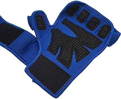 Extra Grip Padded Palm Gel Non-Slip for Wodies Crossfit Gym Workout Cross Training Fitness Weight Lifting Gloves Men Women with Wrist Support Straps Compression Fit Full Protection