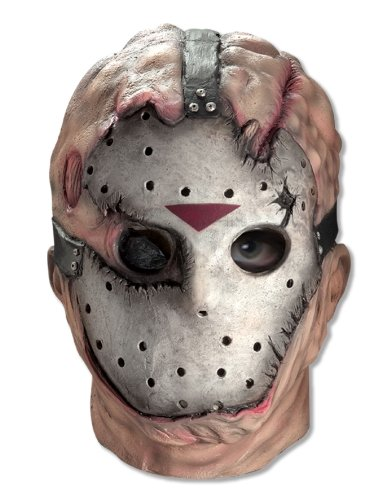 Friday The 13th Jason Voorhees Deluxe Overhead Mask, Gray, One (Jason Vorhees Mask)