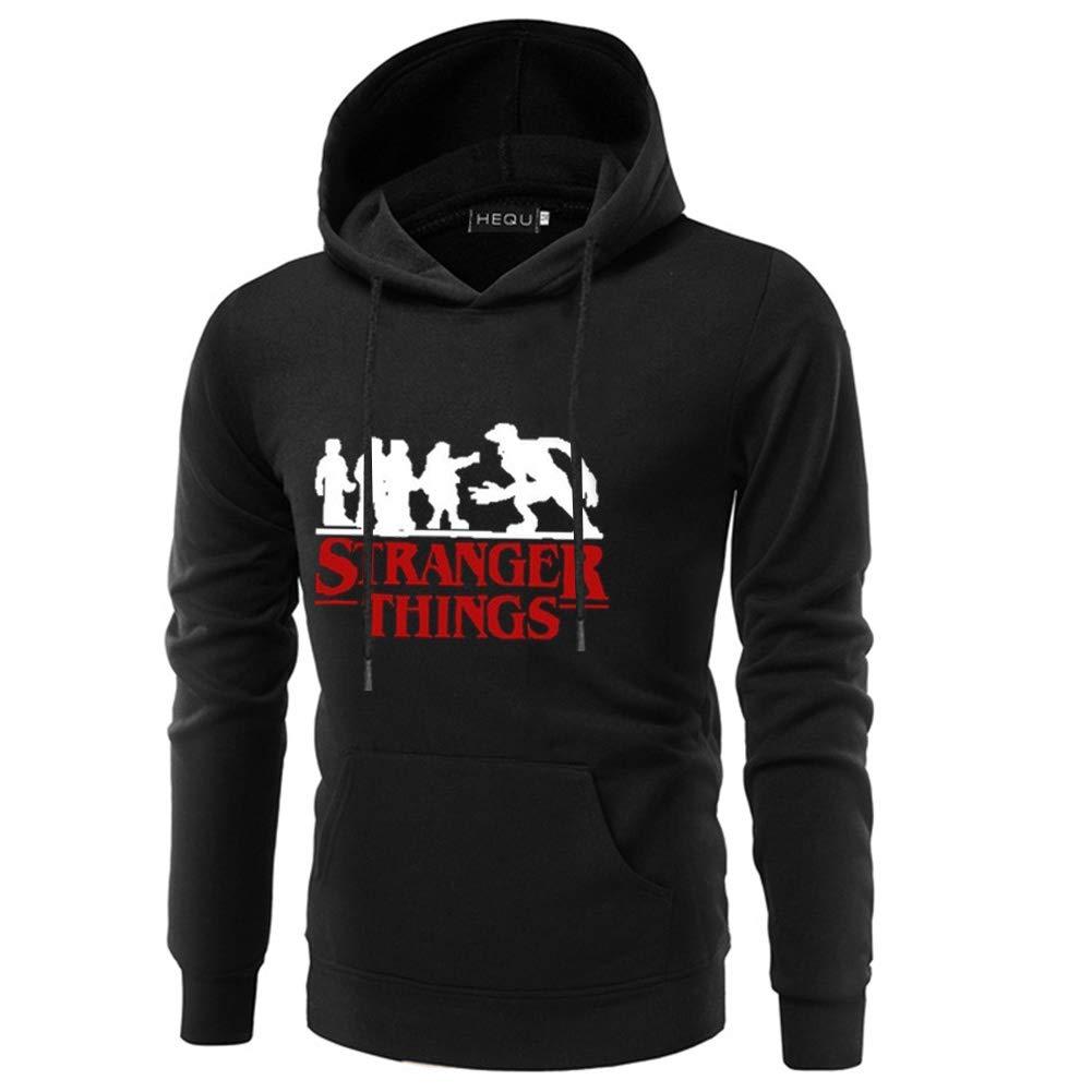 Topekada Mens Youth Stranger Things Season 3 Long Sleeve Hoodie Sweatshirt Hooded Sweater