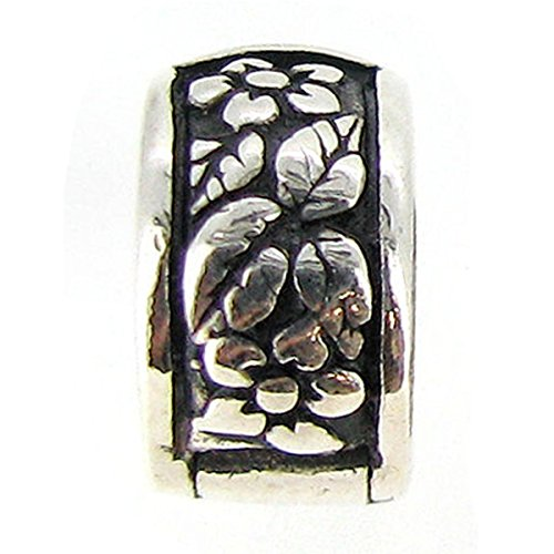 Sterling Silver Flower Leaf Clip Clasp European Style Bead Charm