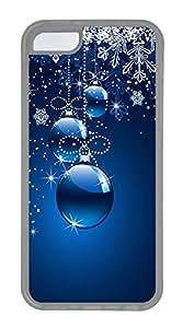 iPhone 5C Case Christmas Ornaments (blue Background) TPU iPhone 5C Case Cover Transparent