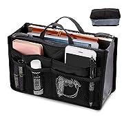 Amazon #DealOfTheDay: Seacan Womens Handbag Organizer Purse Bag Waterproof Travel Makeup Comestic Organizer, Insert Liner, Pouch Purse Multi-Pocket Bag (13 Pockets) (Black)
