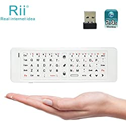 Rii K13 5 in 1 Multifunction Mini Wireless Keyboard With Fly Mouse, IR Learning Remote Control, Speaker and Microphone For PC, Smart TV Android Box Windows 2000 XP Vista 7 8 10