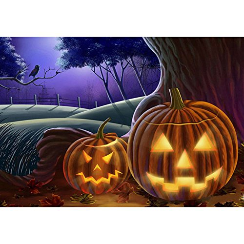 YESIDO Halloween 5D Diamond Painting Cross Stitch Painting by Number Kits for Home (Do It Yourself Halloween Decorations Outdoor)