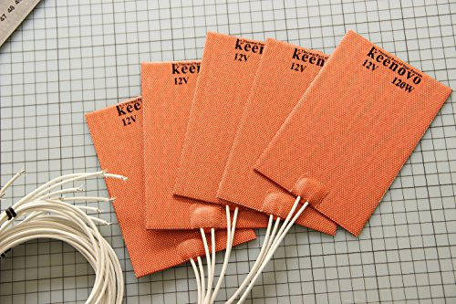 100 X 150mm, 12V 120W, KEENOVO Universal Silicone Heater Mat
