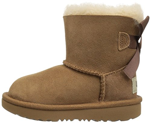 UGG Girls T Mini Bailey Bow II Pull-On Boot, Chestnut, 10 M US Toddler by UGG (Image #5)
