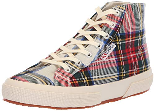 Superga Women 2795 TARTANBINW Sneaker Red Plaid
