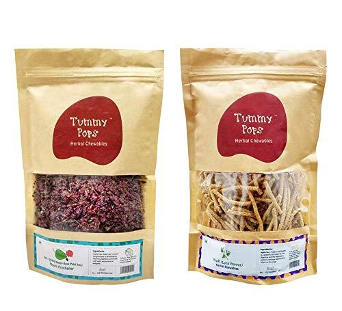 Herbs & Us Tummy Pops Meetha Paan Gulkand & Long Pepper/ Pipli/ Peepli   Digestives/ Churan/ Goli   Pack of 2   250 Gm X 2   Original Mukhwas & Mouth freshener   Mukhwas Packets
