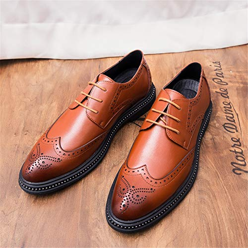 color De Brogue Estilo Tamaño Cinta Retro Cómodo Marrón 42 Talla Eu Exterior Oxford Trapo Marrón Hombre Ruanyi Suela Moda Para Zapatos gAqfAZx