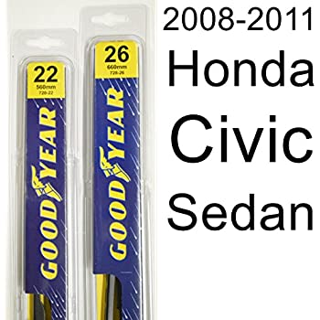 Honda Civic Sedan (2008-2011) Wiper Blade Kit - Set Includes 26