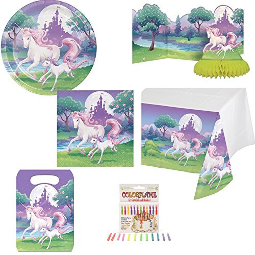 - Fantasy Unicorn Party Bundles Supplies: Napkins, Plates, Candles, Loot Bags, Centerpiece, Table Cover, Grandma Olive Unicorn Sugar Cookie Bar Recipe