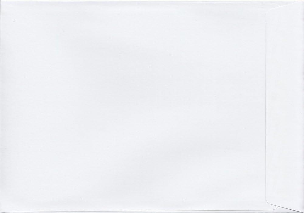 De color blanco 229 mm x 324 mm 120gsm/con cierre adhesivo sobres de cartón C4/para caballo A4 sobre para la tarjeta del mismo tamaño 120gsm (unidades 100)