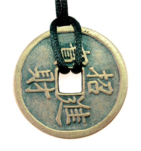 PURPLE WHALE Chinese Bagua Trigrams Feng Shui Bronze Coin Pendant-Daily Wear, Good Fortune, Prosperity, Lucky Charm, Men, Women, 40mm Diameter