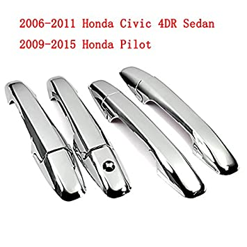 Amazon.com: Triple Chrome Side Door Handle Cover Trims for 06-11 ...