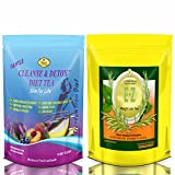 E-Z Detox Weight Loss Tea – Appetite Suppressant. Laxative, Flat Belly Weight Loss for Men & Women. Pack of 2.