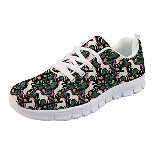 IDEA Sneakers Cats Running Casual Tennis Horse HUGS Printed Cute Floral Shoes Women's Bd5Yw0q