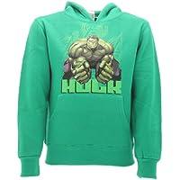 hulk Marvel - Sudadera para niños, talla 7-8 años, color verde, original de Los Vengadores