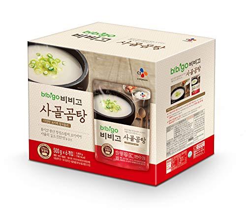 Ready Stock - bibigo Korean Beef Bone Broth Soup, Ready-to-Eat, 17.6 Ounce (6-Pack)