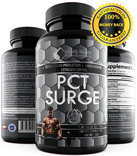 * TRI-PHASE PCT SURGE * Testosterone Balance,Estrogen Control Blocker Blend,Testosterone Booster Support & Liver Support Blend With Milk Thistle & L-Cysteine,Best Post Cycle Therapy Support