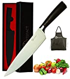 Artefact 8 Inch Professional High Carbon Stainless Steel Kitchen Knife, Chef Knife With Sharp Blade and Ergonomic Handle + Free Apron & Cooking eBook