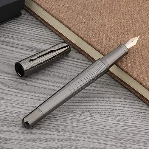 LFMDGB Office Iridium Authentic Fashion Portable Gun Grey Classic Style Gift Fountain Pen
