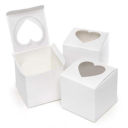 Sourced Hortense B. Hewitt Boda Accesorios, Cupcake Favor Cajas con Forma de corazón Windows