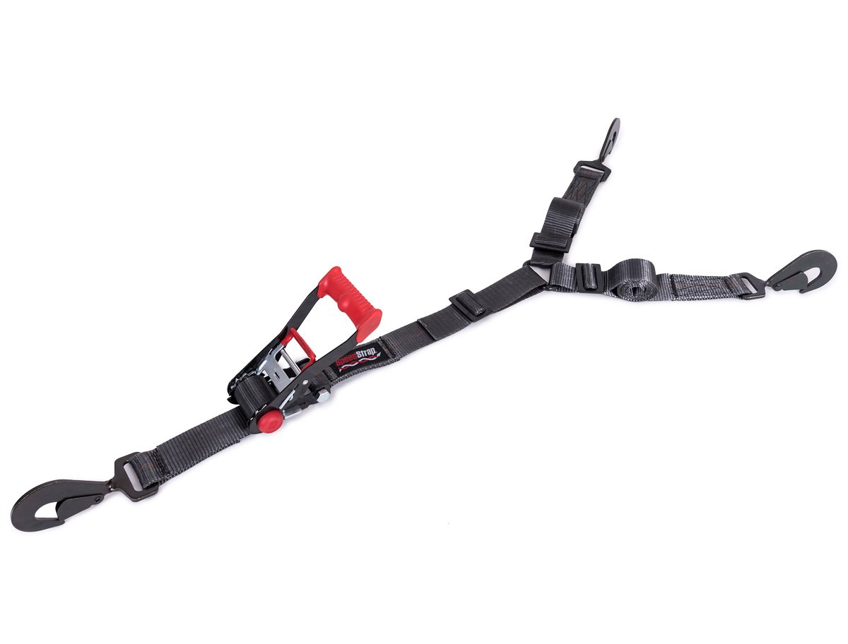SpeedStrap 26590 Black 3-Point Spare Tire Hold Down with Twisted Snap Hook