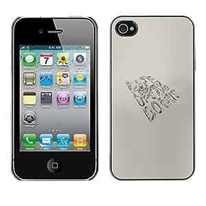 Apple iPhone 4 / iPhone 4S / 4S , Radio-Star - Cáscara Funda Case Caso De Plástico (Life - Ups And Downs)