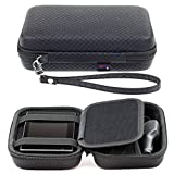 Black Hard Carrying Case for Garmin Drive 51 50 Drivesmart 51 50 Driveassist 51 50 Driveluxe 52 52LMT-S 51LMT-S 50 40 Zumo 396LMT-S 595LM 395LM Dezl Nuvi 57 5'' GPS With Accessory Storage and Lanyard