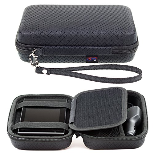 Black Hard Carrying Case for Garmin Drive 52 51 50 Drivesmart 55 51 50 Driveassist 51 50 Driveluxe 52 52LMT-S 51LMT-S 50 40 Zumo 396LMT-S 595LM 395LM Dezl Nuvi 57 5'' GPS Accessory Storage & Lanyard