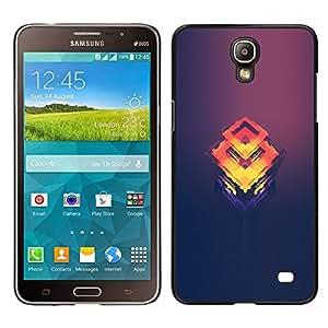 A-type Arte & diseño plástico duro Fundas Cover Cubre Hard Case Cover para Samsung Galaxy Mega 2 (Naranja Cubo Fundido)