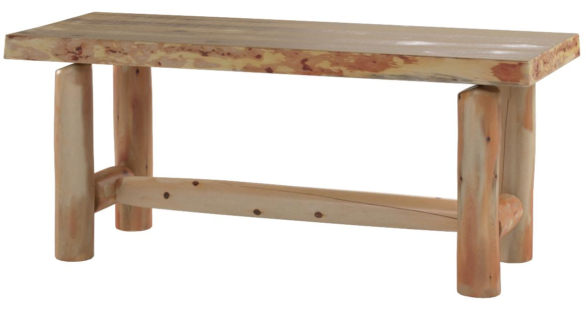 Rustic Log Coffee Table Pine and Cedar Clear Lacquer