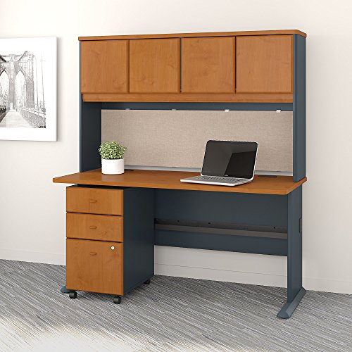Bush Business Furniture SRA050NCSU Office Suite, Natural Cherry and Slate