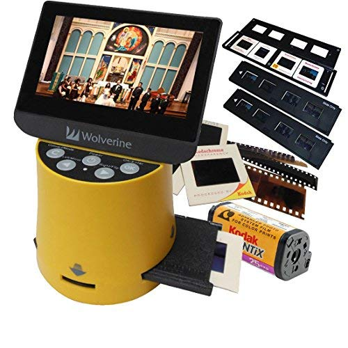 High Resolution - Wolverine Titan 8-in-1 20MP High Resolution Film to Digital Converter with 4.3