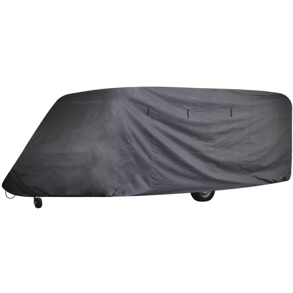 Festnight Wohnwagen Abdeckung Caravan Schutzdach Cover Schutzh/ülle 610 x 230 x 220 cm L/änge zwischen 5,18-6,09m