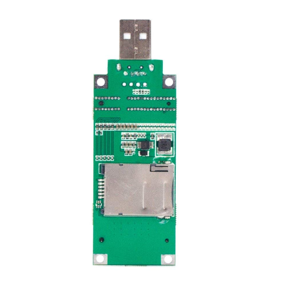 Mini PCIe WWAN Card to USB Adapter with SIM Slot, Mini PCI Express WWAN/LTE/4G Module Tester Converter, Support 30mm 50mm Wireless Wide Area Network Card by Mustpoint
