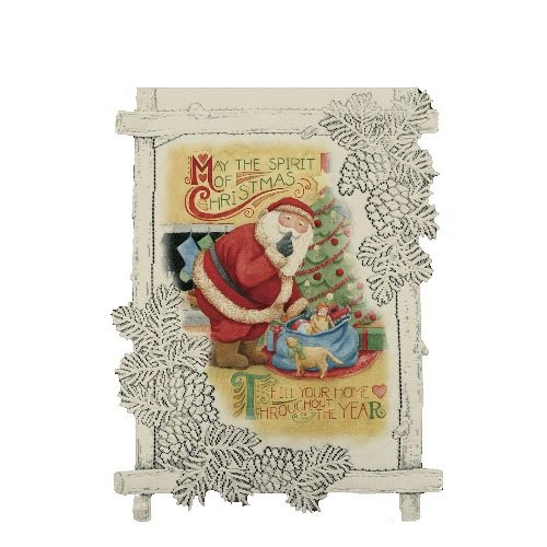 Heritage Lace Spirit of Christmas 14-Inch by 17-Inch Cafe Wall Hanging