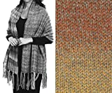''Prayer Shawl'' Knit Kit in Encore Worsted Colorspun yarn - COPPER DRIFT