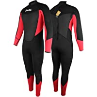 GoldFin Full Wetsuits 3mm Neoprene Wetsuit, Back Zip Long Sleeve for Diving Surfing Snorkeling-One Piece Wet Suit for…