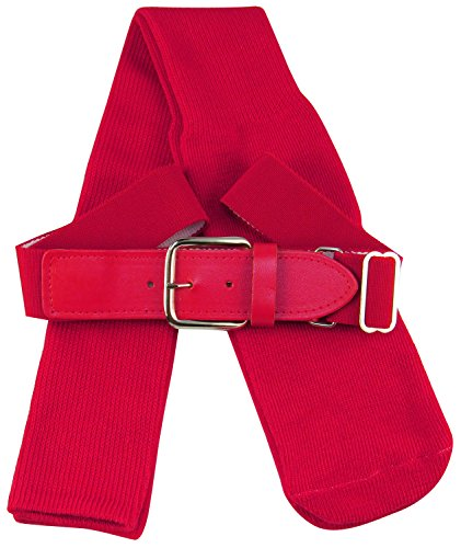 TCK Sports Baseball/Softball Adult Belt & Socks Combo Set (Scarlet, Large)