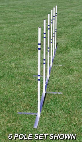 Affordable Agility VersaWeave 12 Pole Set, 24in spacing, with Aluminum Base by Affordable Agility