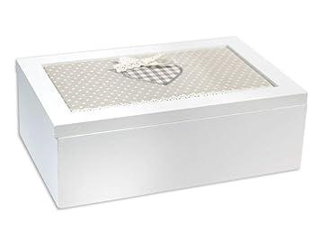 Copertura In Legno Bianco : Vetrineinrete scatola portagioie in legno bianco scomparti con