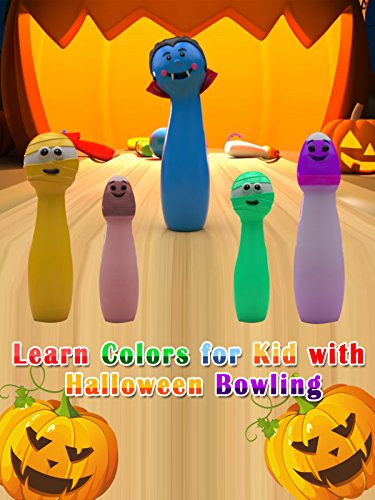 Learn Colors for Kid with Halloween Bowling ()
