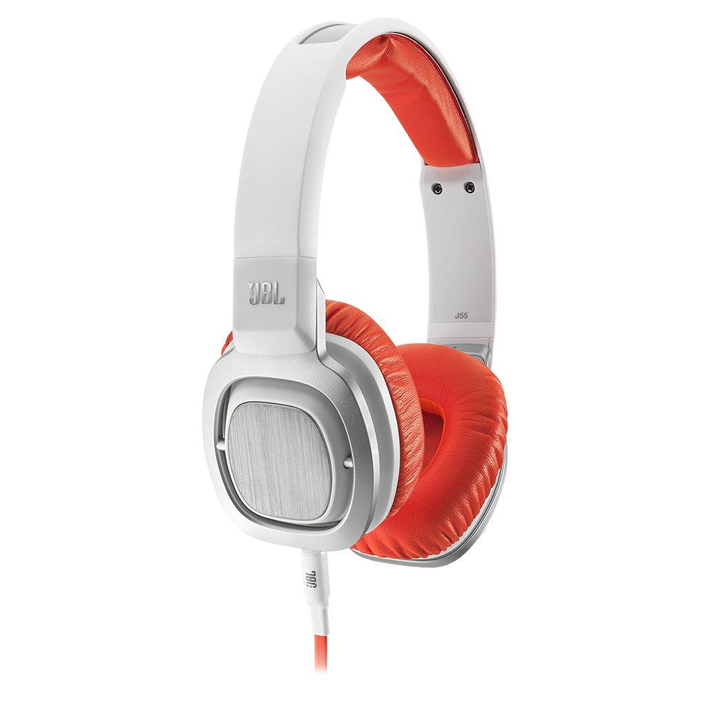 JBL J55i High-Performance On-Ear Headphones with JBL Drivers, Rotatable Ear-Cups and Microphone - Orange