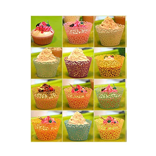 100 Pcs Exquisite Wrapping Party Decor Wraps Cupcake Muffin Paper Holders ()