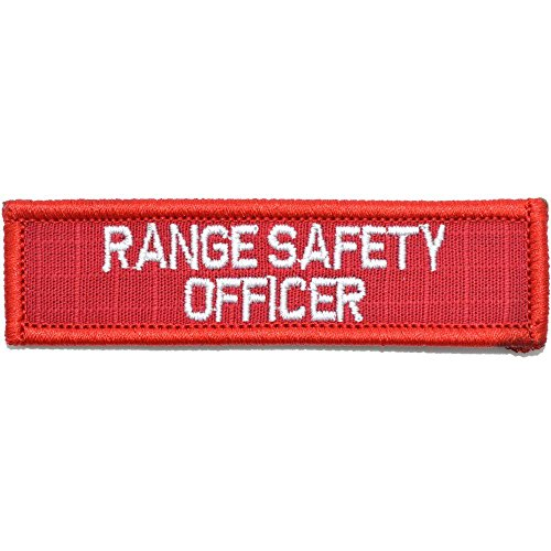 Range Safety Officer - 1x3.75 Morale Patch - (Red/White)