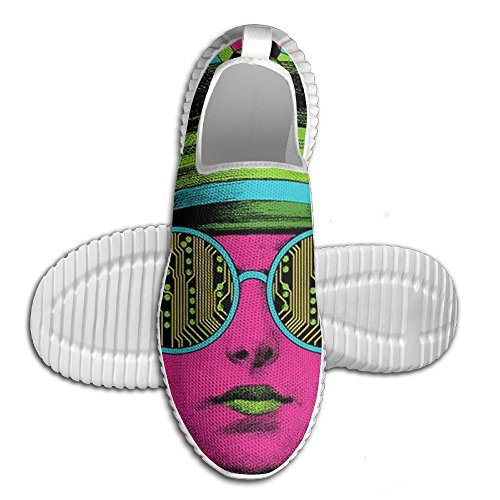 WHENLUCKY Running Shoes Unisex All Over 3D Printed Mesh Slip On Funny Color Femal Star Cool Road Running - Star Sunglasses All